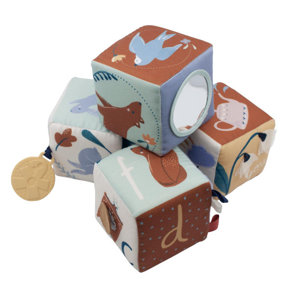 Sebra Babystofblokken, 4 stuks
