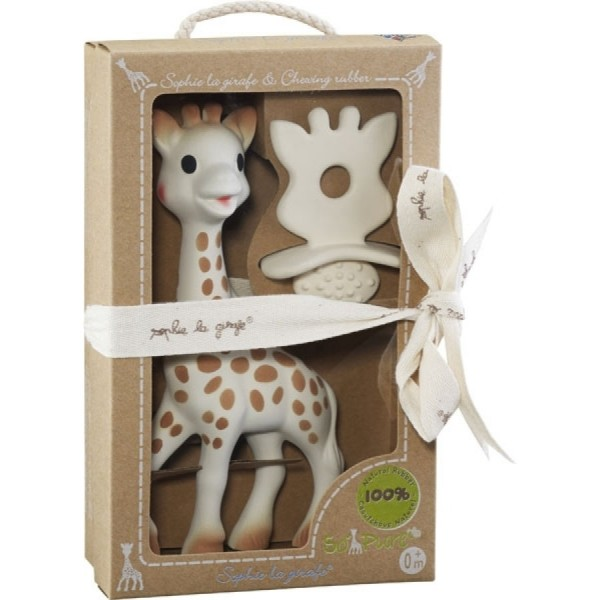 Sophie La Girafe + 1 Schnuller/Zahnungshilfe SO'PURE