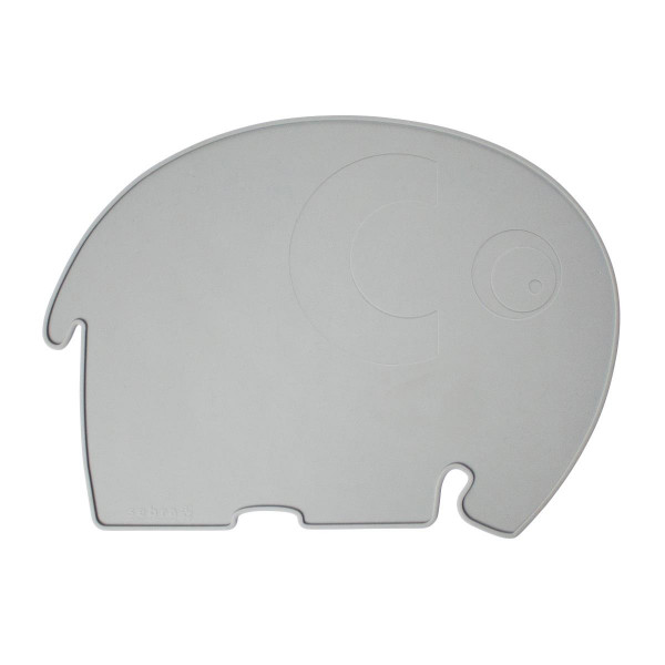 Sebra Silikon Platzdeckchen, Elefant, grau
