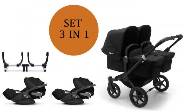 Bugaboo Donkey3 Twin kinderwagen Set 3 in 1 incl. Cybex Cloud Z i-Size Autostoeltje