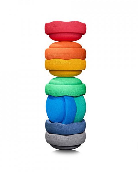 Stapelstein Rainbow Great Set 8 stuks GREY EDITION