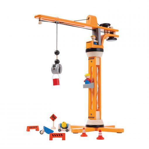 PlanToys speelgoedkraan van hout