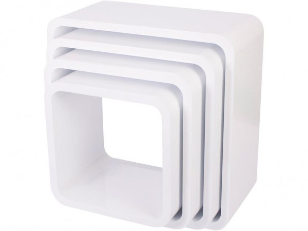 Sebra Cube Regale, 4er Set, quadratisch, Matte