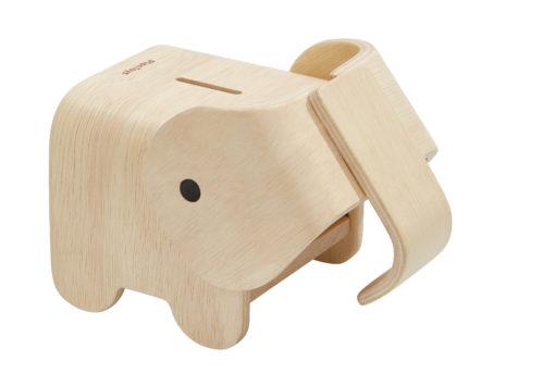 PlanToys houten spaarpot olifant