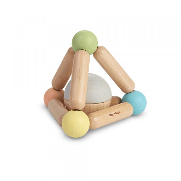 PlanToys houten speelgoed rammelaar PYRAMIDE vanaf 6 maanden