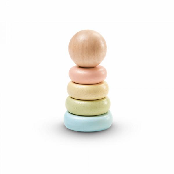 PlanToys houten speelgoed eerste stapeltoren