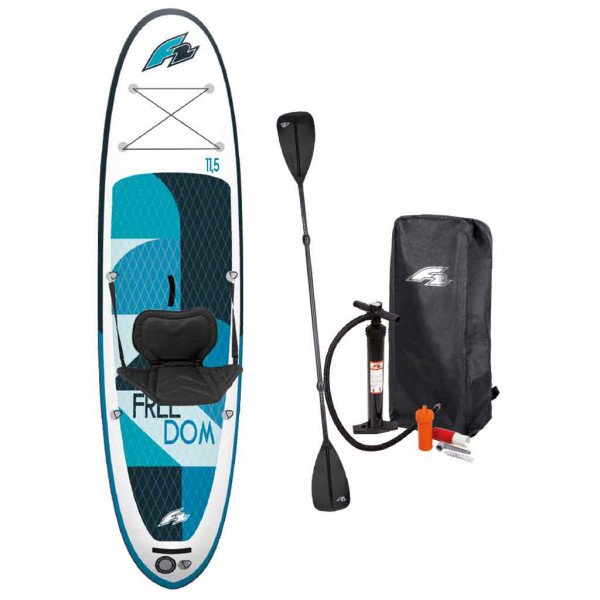 F2 Stand Up Paddle Freedom Set 3,2 m lang, incl. zitje & omkeerbare peddel