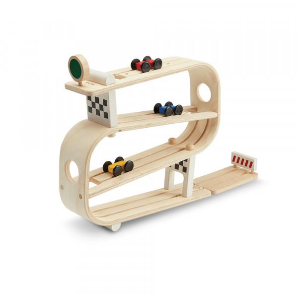 PlanToys houten speelgoed auto racebaan Ramp Racer