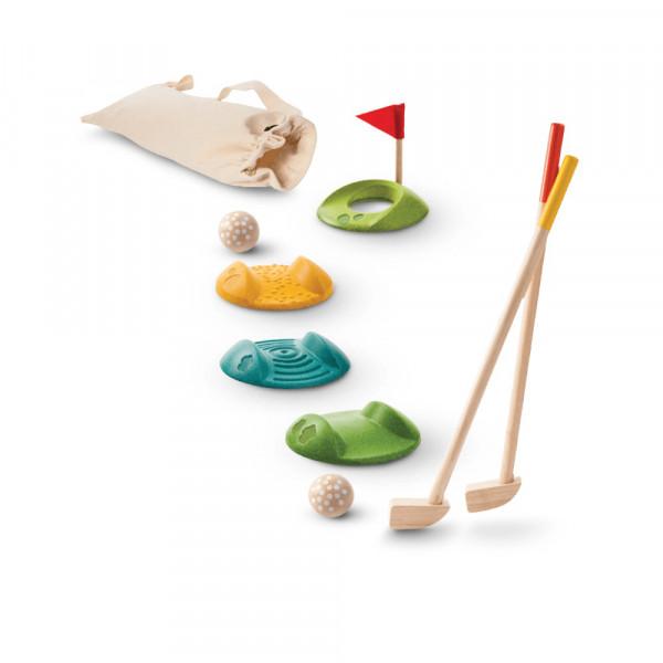 PlanToys houten speelgoed minigolf - volledige set