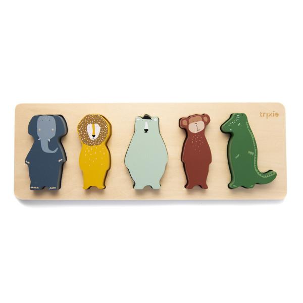 Trixie houten puzzel met dieren
