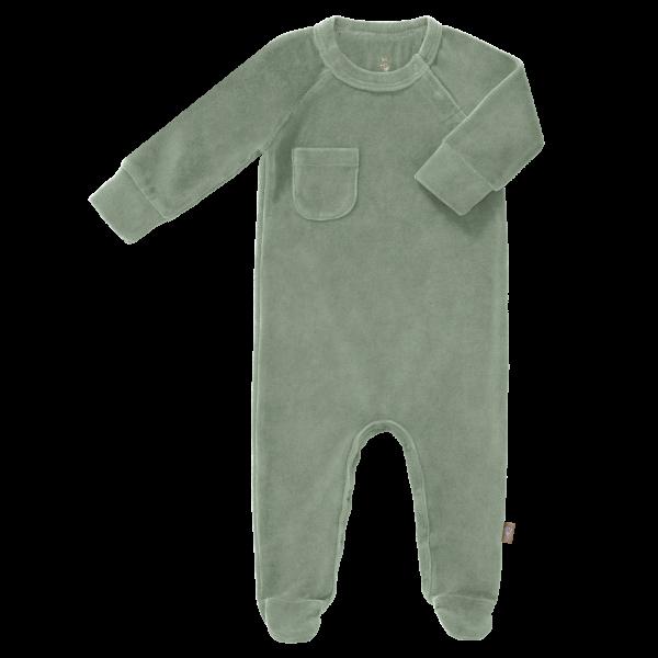 Fresk baby pyjama met voet velours