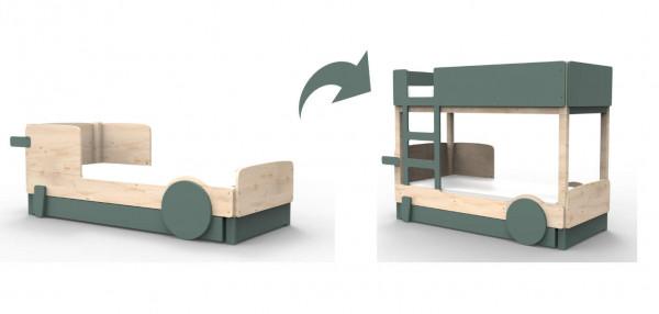 Mathy by Bols Discovery ombouwset van eenpersoonsbed naar stapelbed