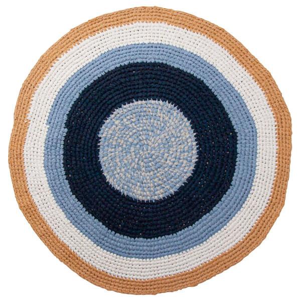 Sebra gehaakt tapijt rond