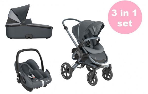 Maxi Cosi Nova 4 Kinderwagen Set 3 in 1 (Oria Babywanne & Rock Babyschale)