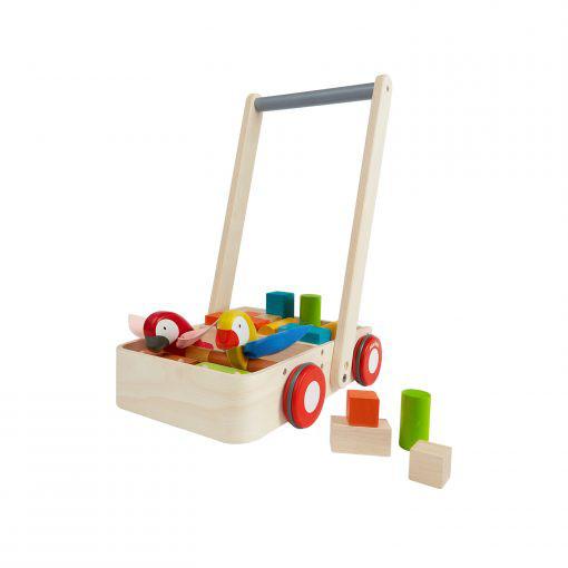 PlanToys Vogel houten loopwagen