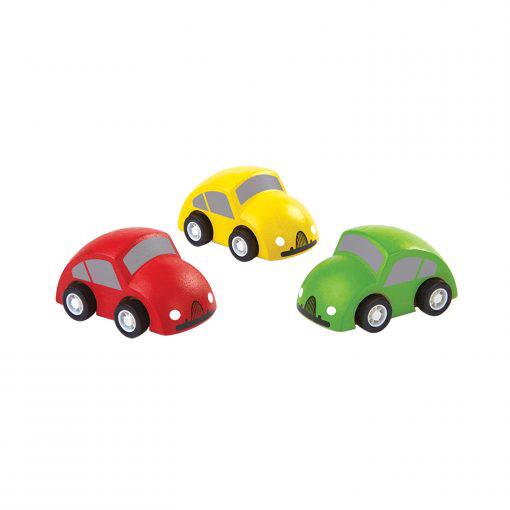PlanToys houten speelgoedauto's