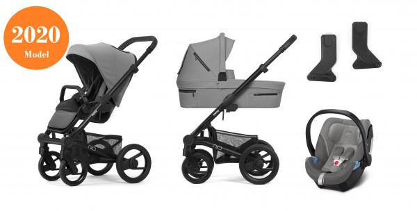 Mutsy Nio Kinderwagen Set 3 in 1 2020 (mit Grau Griff)
